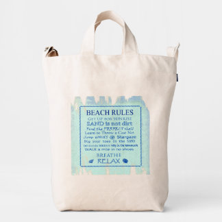Beach Guidelines Tote Bag