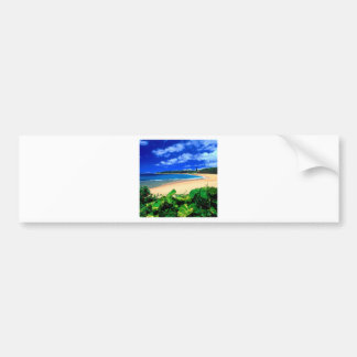 Beach Haena Kauai Hawaii Bumper Sticker