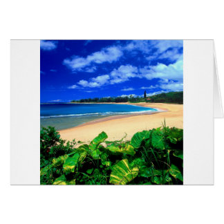 Beach Haena Kauai Hawaii Card