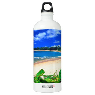 Beach Haena Kauai Hawaii Water Bottle