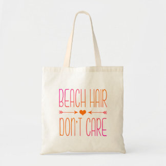 Beach Hair Don't Care | Pink and Orange Tote Bag