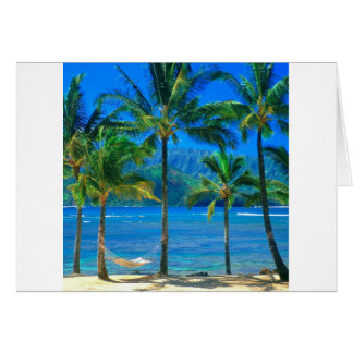 Beach Hammock Kauai Hawaii Card