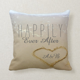 "Beach ""Happily Ever After"" Throw Pillow"