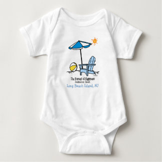 Beach Happy Gifts Baby Bodysuit