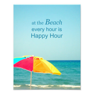 Beach Happy Hour Saying Photo