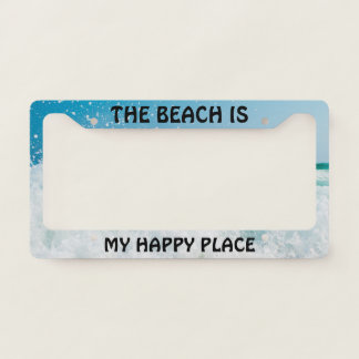 Beach Happy Place License Plate Frames