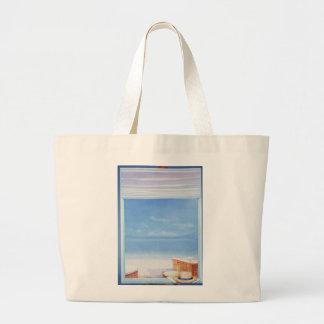 Beach Hat Large Tote Bag