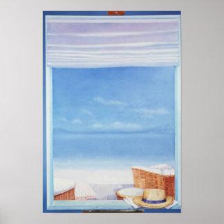 Beach Hat Poster