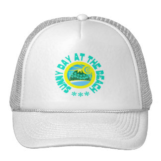 Beach hats: Sunny day at the beach