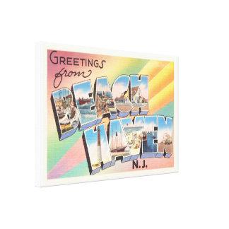 Beach Haven New Jersey NJ Vintage Travel Postcard- Canvas Print
