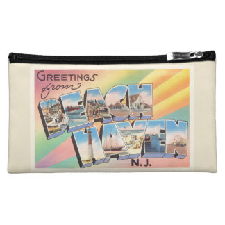 Beach Haven New Jersey NJ Vintage Travel Postcard- Makeup Bag