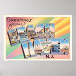 Beach Haven New Jersey NJ Vintage Travel Postcard- Poster