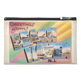 Beach Haven New Jersey NJ Vintage Travel Postcard- Travel Accessory Bag