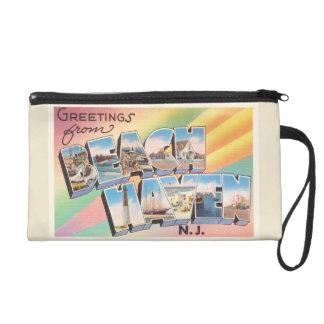 Beach Haven New Jersey NJ Vintage Travel Postcard- Wristlet Purse