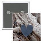 Beach Heart 2 Inch Square Button