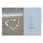 Beach Heart Greeting Card