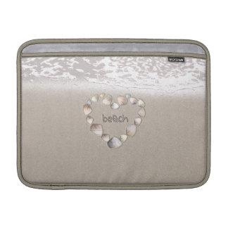 Beach Heart MacBook Air Sleeves