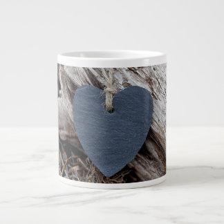 Beach Heart Large Coffee Mug