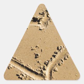 Beach Heart of Love Triangle Stickers