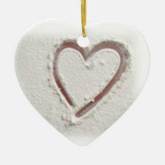 Beach Heart of Sand Wedding Ceramic Ornament