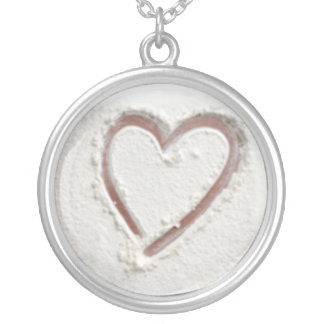 Beach Heart of Sand Wedding Silver Plated Necklace