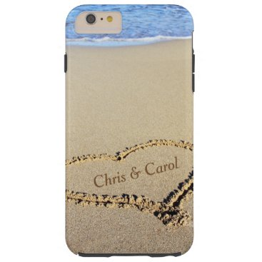 BeachQuotes Beach Heart Phone Case w/ Names