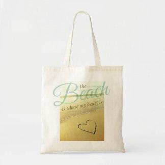 Beach Heart Sand Drawing Bag