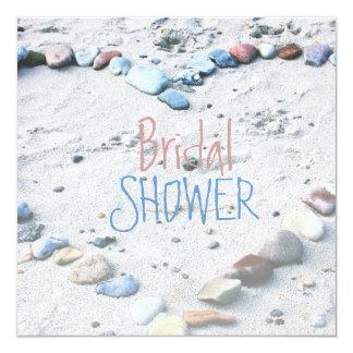 Beach Heart Wedding Bridal Shower Card