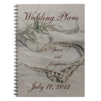 Beach Heart Wedding Plans Notebook