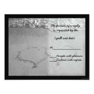 beach hearts bw rsvp card