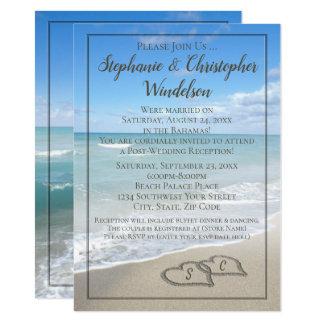 Beach Hearts Destination Post-Wedding Reception Invitation