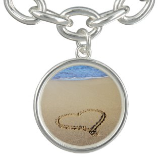Beach Heart Charm Bracelet