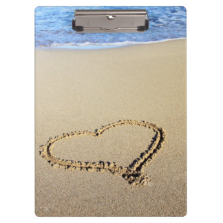 Beach Hearts In Sand Clipboards