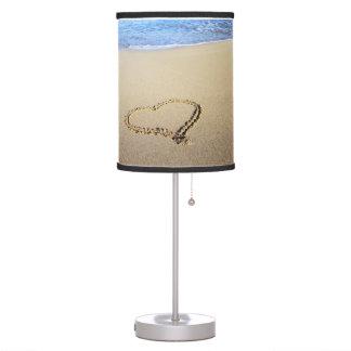 Beach Hearts In Sand Desk Lamp