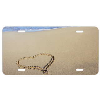 Beach Hearts In Sand License Plate