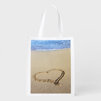 Beach Beaches and Love Tote Bags Personalized