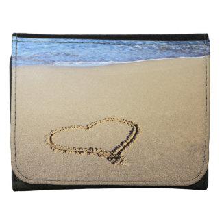 Beach Hearts In Sand Wallets