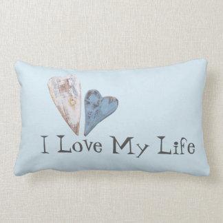 Beach Hearts Love Life Lumbar Pillow