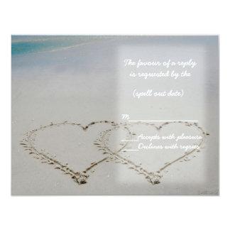 beach hearts rsvp card