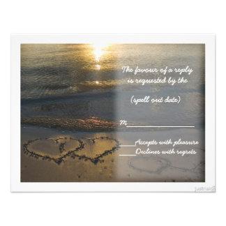 beach hearts sunrise rsvp announcements