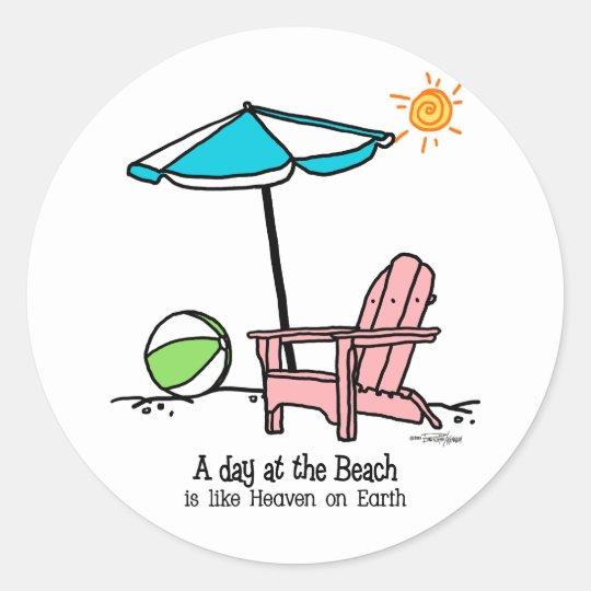 Beach Heaven Classic Round Sticker