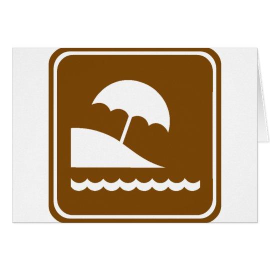 Beach Highway Sign Card