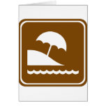 Beach Highway Sign Greeting Cards
