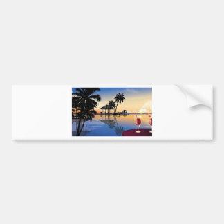 Beach holiday bumper sticker