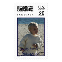 beach holiday stamp
