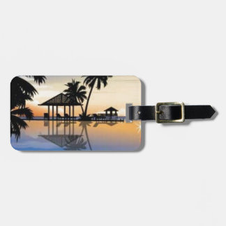 Beach holiday tag for luggage
