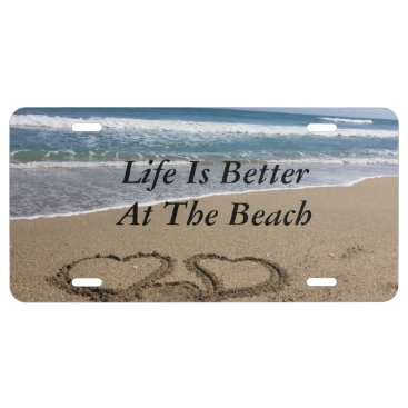 Beach Themed Beach Home License Plate