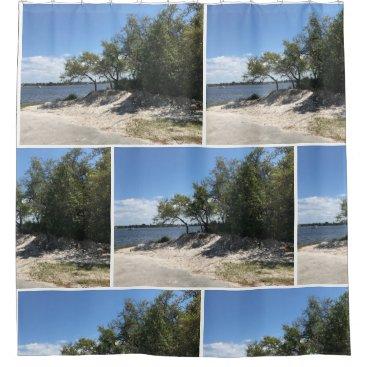 Beach Themed Beach Home Shower Curtain