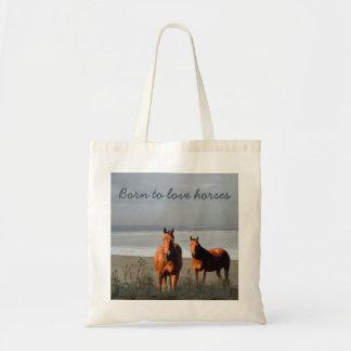 Beach Horses Tote Bag