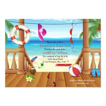 PixiePrints Beach House Bachelorette Party Invitation